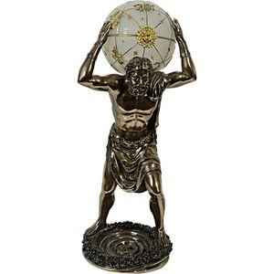 Götter & Helden - elektrische Lampe griechischer Gott Atlas bronziert