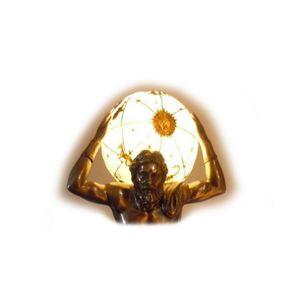 Götter & Helden - elektrische Lampe griechischer Gott Atlas bronziert – Bild 2