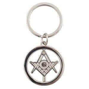 Freimaurer Schlüsselanhänger - drehbares Symbol