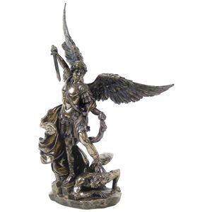 Erzengel Michael mit Schwert 26cm bronziert