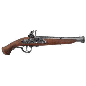 Dtsch. Steinschloßpistole 17. Jhdt., grau