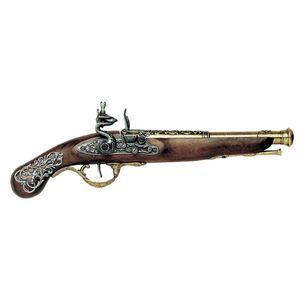 Messingfarbene englische Deko Steinschloss Pistole 18. Jhdt.
