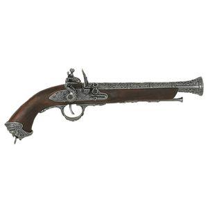 Ital. Steinschloßpistole, 18. Jhdt., dekor. Lauf