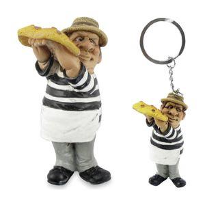 2er Set Schlüsselanhänger und Magnet - Funny Job - Pizzabäcker