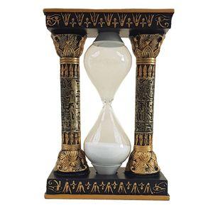 Ägyptische Sanduhr zwischen Säulen mit dem Auge des Re schwarz-gold – Bild 1