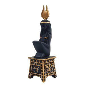 Ägyptische Göttin Isis sitzend auf Sockel 15cm – Bild 1