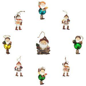 9er Set Western Weihnachts Figuren zum aufhängen – Bild 1
