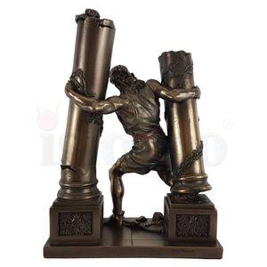 Hebräischer Held Samson reißt Säulen des Tempels der Philister um – Bild 3