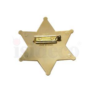 Sheriffstern 1790 James Wilson 24 Karat vergoldet – Bild 3