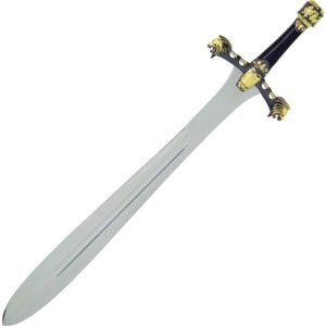 Schwert Alexander der Große schwarz-gold verziert 92cm