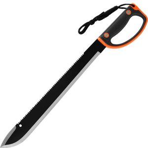 Machete 60cm Kunststoffgriff schwarz-orange mit Scheide – Bild 1