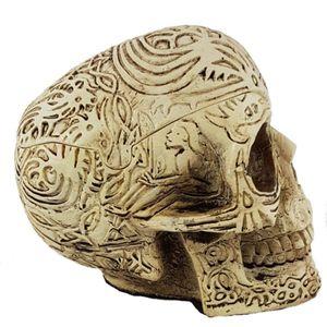Aschenbecher Totenkopf zum öffnen mit keltischen Linien 10cm – Bild 4
