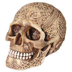 Keltisch verzierter Totenkopf 15cm