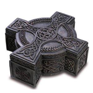 Schmuckdose Keltisches Kreuz zum öffnen 16cm – Bild 1