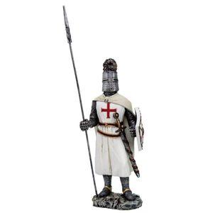 Templer Kreuzritter stehend mit Schild und Lanze 19cm – Bild 1