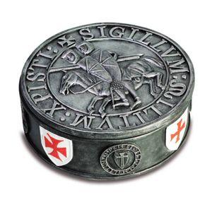Schmuckdose Templer Kreuzritter mit Siegel der Templer – Bild 1