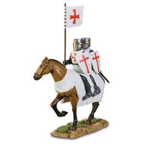 Templer Kreuzritter Wahrzeichen Siegel 2 Ritter auf Pferd 19cm – Bild 1
