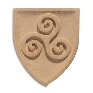 Wappen Wandbild Keltisches Triskel 23cm