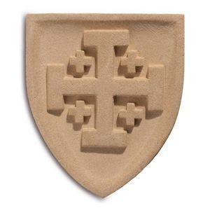 Wappen Wandbild Ritterorden vom Heiligen Grab zu Jerusalem 23cm – Bild 1