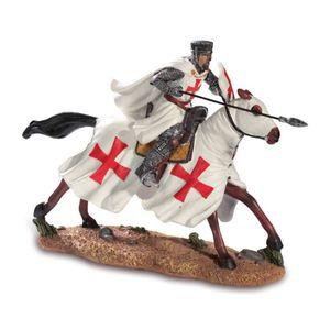 Templer Kreuzritter mit Lanze auf Pferd beim Angriff 17cm – Bild 1