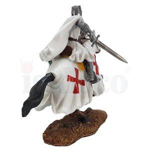 Templer Kreuzritter mit Schwert auf Pferd beim Angriff 17cm – Bild 4
