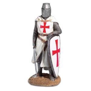 Templer Kreuzritter mit Arm auf dem Schild und Schwert in der Hand 26cm – Bild 1