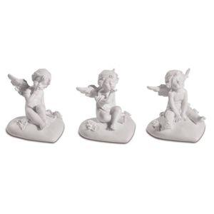 6er Set kleine Engelchen sitzen auf Herz 5cm – Bild 1
