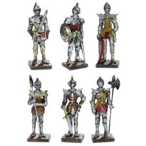 6er Set mittelalterliche Ritter 9cm – Bild 1