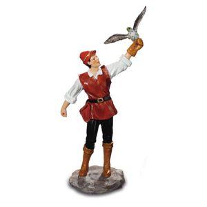 Mittelalterlicher Falkner 12cm