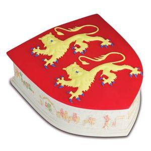 Dose Wappen Normandie mit Abbildung Teppich von Bayeux – Bild 1