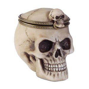 Schmuckdose Totenkopf mit Deckel zum öffnen – Bild 1