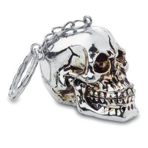 Schlüsselanhänger silberner Totenkopf