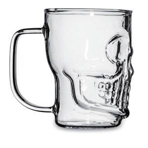 Glas Totenkopf mit Henkel 500ml – Bild 1