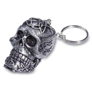 Schlüsselanhänger Totenkopf mit keltischen Linien