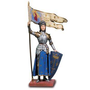 Johanna von Orleans bunt stehend in Rüstung mit Flagge 21,5cm – Bild 1