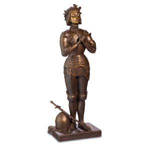 Johanna von Orleans bronze steht und betet nach Antonin Mercier 23cm – Bild 1