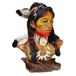 Büste Cheyenne Indianer in Kriegsbemalung 18cm – Bild 1
