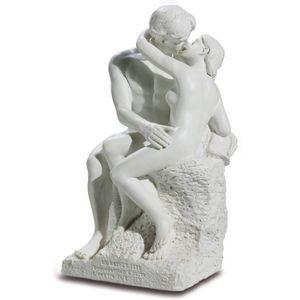 Der Kuss 15cm weiß nach Le Baiser von Auguste Rodin