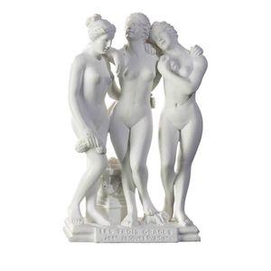 Die drei Grazien - nach Jean Jacques Pradier 12cm weiß - Les Trois Graces