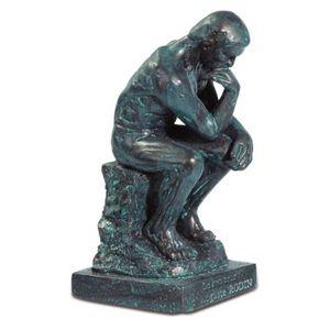 Der Denker 8cm bronze-patina nach Le Penseur von Auguste Rodin