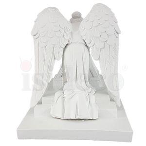Engel trauert am Grabstein 16cm weiß nach Angel Of Grief von Antonio Bernieri – Bild 4
