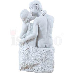 Der Kuss 8cm weiß nach Le Baiser von Auguste Rodin – Bild 4