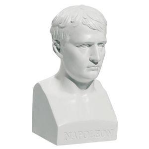 Büste Napoleon ohne Uniform 15cm weiß nach Antoine Denis Chaudet