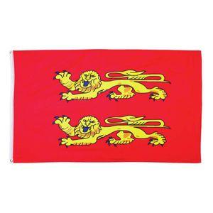 Fahne Flagge der Normandie 90x150cm goldene Löwen auf Rot