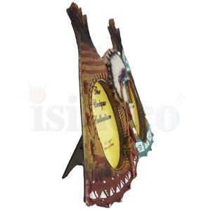 Western Bilderrahmen zwei Indianer Tipis 30cm – Bild 3