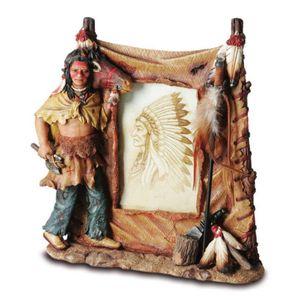 Western Bilderrahmen Indianer mit Tomahawk 25cm