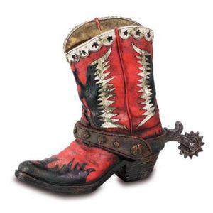 Western Stiftehalter Stiefel Adler rot-schwarz-weiß 14,5cm – Bild 1