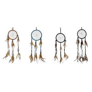 4er Set Traumfänger 13cm in verschiedenen Farben Western Indianer