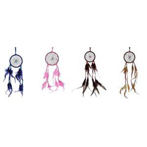 4er Set Traumfänger 9cm in verschiedenen Farben Western Indianer
