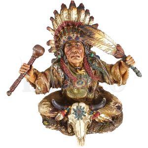 Western Figur Indianer als Traumdeuter sitzend 24cm – Bild 6
